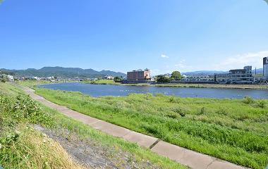 筑後川 散歩